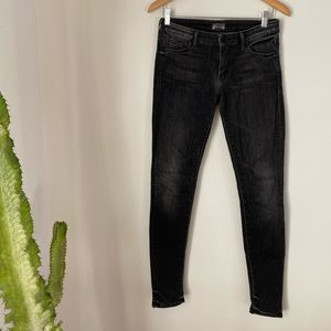 Mother Skinny Charcoal Jean